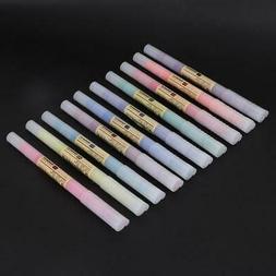 10 Colors 4mm Thin Tips Art Student Sketch Marker Fluorescen