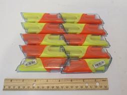 10 Papermate DUO Accent Highlighter Pens ORANGE YELLOW