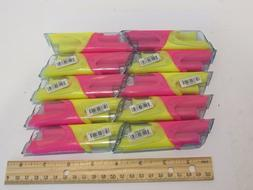 10 Papermate DUO Accent Highlighter Pens PINK YELLOW