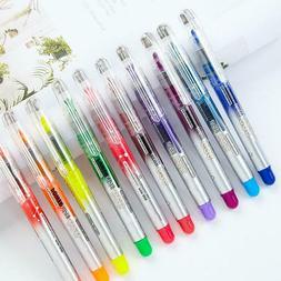 10Color Double-end Erasable Highlighter Pen Markers Pastel L