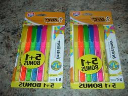 12 BIC CHISEL TIP HIGHLIGHTERS 6 PK x 2 ASSORTED BRITE LINER