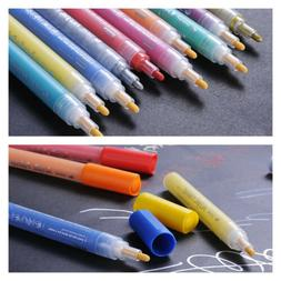 12 Colors Acrylic Waterproof Markers Pens Art Paint Highligh