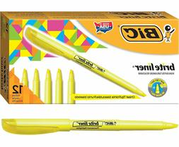 12 ct highlighters fluorescent yellow brite liner