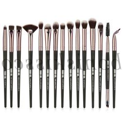 15pcs Pro Eyeshadow Brushes Kit Eyeliner Eyebrow Highlight F
