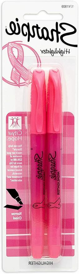 Sharpie 1741909 Accent Pink Ribbon Pocket Highlighter, 2-Pac