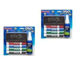 Expo 2 Low-Odor Dry Erase Set, Chisel Tip, 6-Piece, Assorted