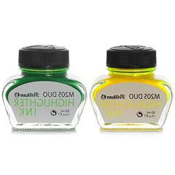 Pelikan, 2 x 30 ml Inkwells, M205 DUO Highlighter Ink Yellow