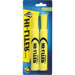 Avery 24081 Highlighter,Chisel Point,2/CD,Fluorescent Yellow