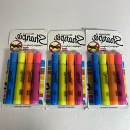 Sharpie 25053 Tank Highlighters, Chisel Tip, Assorted Colors
