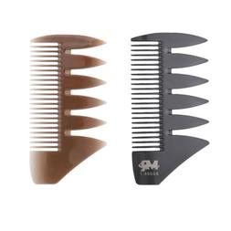 2x Dual Sides 2-tips Fish Bone Hair Comb for Dye/Section/Col