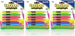 3 Pk, BAZIC Mini Highlighter w/ Cap Clip, 6/Pack