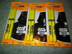 3 NIP Bic Disney Star Wars Chisel Point Super Bright Highlig