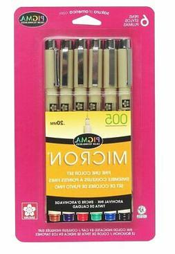Sakura Pigma 30064 Micron Blister Card Ink Pen Set, Ass't Co