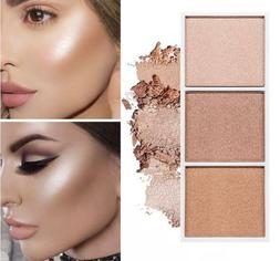 4 Colors Highlighter Palette Makeup Face Contour Powder Bron