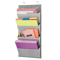 4 Pocket Storage Organizer Wall Mount Over The Door Books Pl