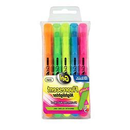 BAZIC 5 Fluorescent Gel Highlighter, Case of 12