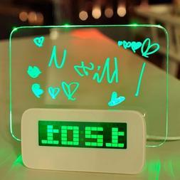 5 LED Digital Highlighter Erasable Message Board Alarm Clock