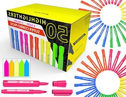 50 chisel tip highlighters markers