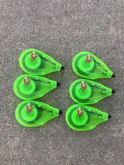 6 Pack Manco Erasable Dry lighter Green Bible Highlighter No