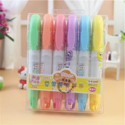6 pens/box 6-color Cute face fruit scent <font><b>Chisel</b>