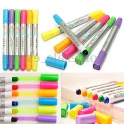 6Pcs 80MM Color Highlighter Fluorescent Gel Solid Paint Pen