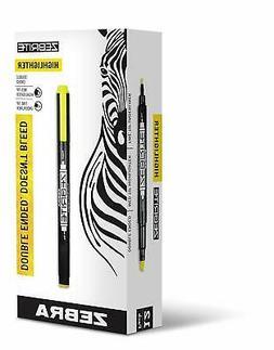 Zebra 75050 Eco Zebrite Double-Ended Highlighter Chisel-Fine