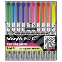 Zebra 77050 Zazzle Liquid Ink Highlighters, Chisel Tip, Yell