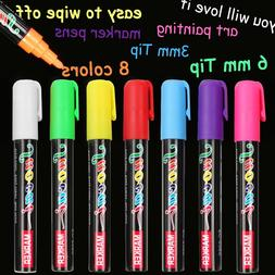 8 color <font><b>Highlighter</b></font> Liquid Chalk Marker