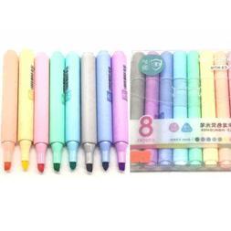 8 colors creative fluorescent pen highlighter pencil