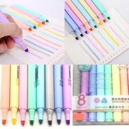 8 Colors Creative Fluorescent Pen Highlighter Pencil Drawing