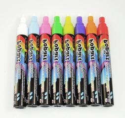 8 pcs Highlighter FluorescentMarker Pen for LED Writing Boar
