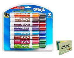 Expo 81045 Low-Odor Dry Erase Markers, Chisel Tip, 16-Pack,