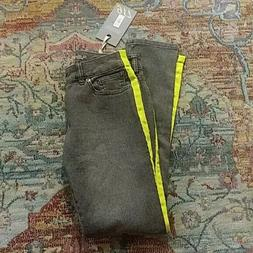 The Limited 917 gray highlighter stripe jean 2 nwt