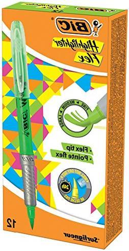 BIC 949868 Flex Highlighter - Fluorescent Green