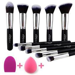 BEAKEY Makeup Brush Set, Premium Synthetic Kabuki Foundation