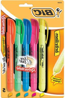 BIC : Brite Liner Retractable Highlighters, Chisel Tip, BE,