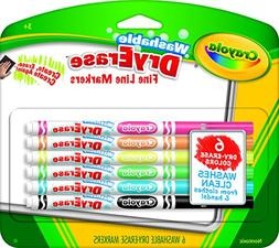 Crayola 98-5912 Washable Dry-Erase Fine Line Markers, 12 Cla