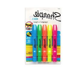 Sharpie 1803277 Gel Highlighter, Assorted Colors, 5 per Set