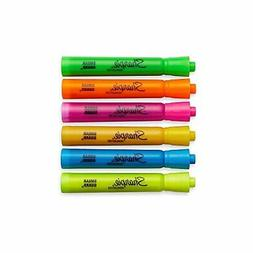 Sharpie Accent Tank-Style Highlighters, 6 Colored Highlighte