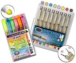 Accu-Gel Bible Hi-Glider Highlighters and Pigma Micron 8 Fel