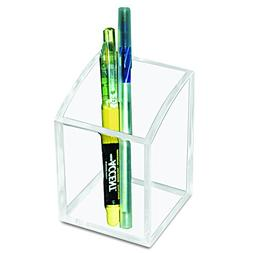 Kantek AD20 Acrylic Pencil Cup, 2 3/4 x 2 3/4 x 4, Clear