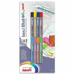 Pentel Arts 8 Colour Refill Lead, Assorted Colors, 8 Pack