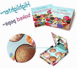 Baked Pops Highlighter Palette 4 Shades Baked Highlighters B