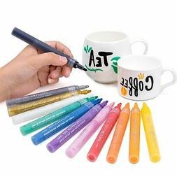 Bianyo Acrylic Marker Pens-Fine Tip Art Liquid Highlighters