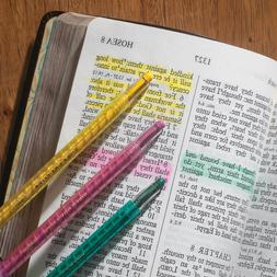 Bible Dry Pencil Highlighting Pink Green Yellow Dry Marker P