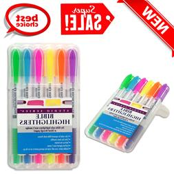 Bible Highlighters Heavy Duty Set of 6 Blue Purple Green Pin