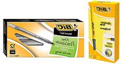 BIC Brite Liner Grip Highlighter, Chisel Tip, Yellow, 12-Cou