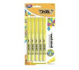 BIC Brite Liner Highlighters, Chisel Point, Yellow, 5-pack