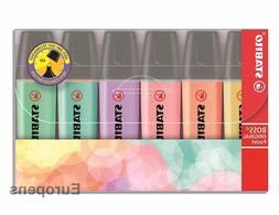 STABILO BOSS PASTEL HIGHLIGHTER ORIGINAL Pens - Pack of 6 as