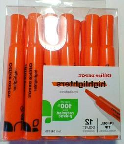 Office Depot Brand Chisel-Tip Highlighter, Plastic, Fluoresc